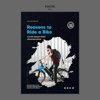 Reasons to ride a bike template poster