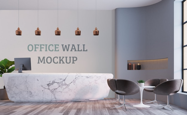 Reception space. wall mockup
