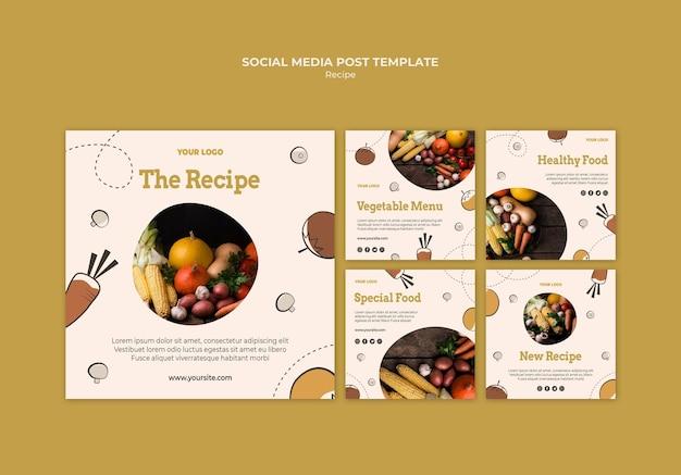 Recipe social media post template
