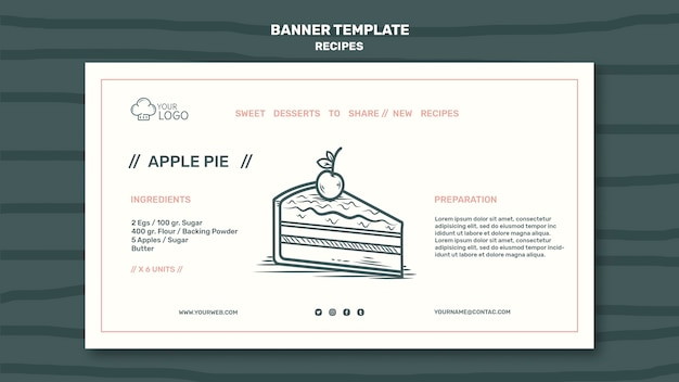Recipes concept banner template