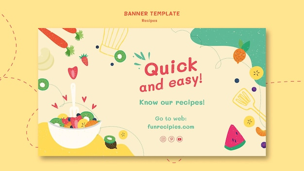 Recipes website banner template