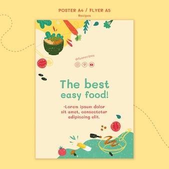 Modello di volantino del sito web di ricette