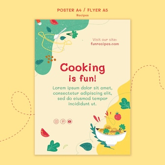 Recipes website poster template