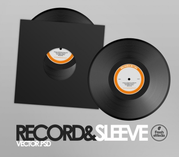 Record sleeves psd