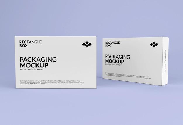 제품 포장을위한 직사각형 상자 모형