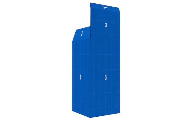 Прямоугольный макет коробки