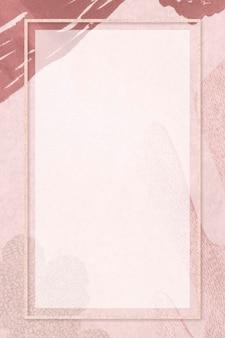 Прямоугольная рамка на макете социального фона в нео мемфисе