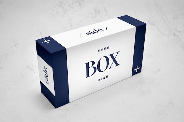 Rectangle packaging box mockup
