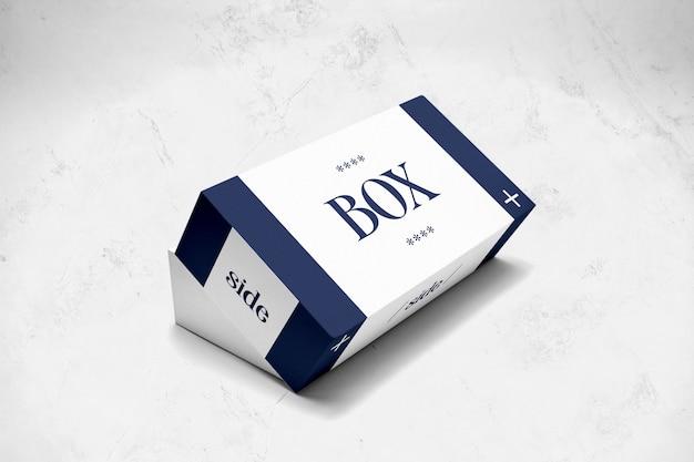 Прямоугольный макет упаковочной коробки
