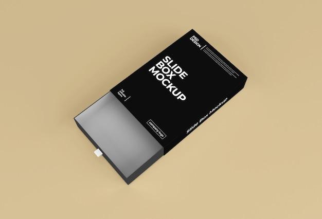 직사각형 종이 슬라이드 상자 포장 모형