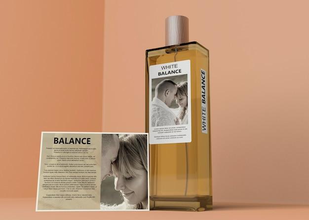 Rectangle perfume bottle on table