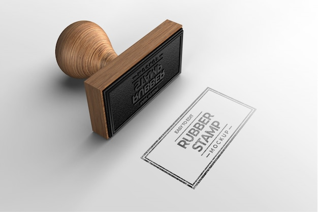 Rectangle stamp logo mockup