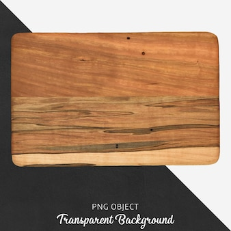Rectangle wooden cutting board on transparent background