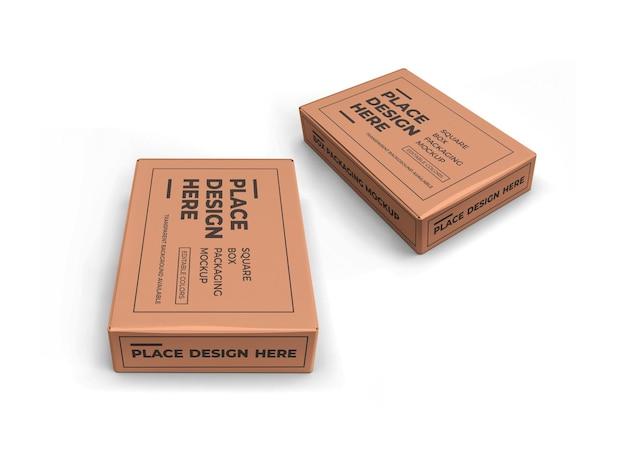 Мокап упаковки прямоугольной коробки