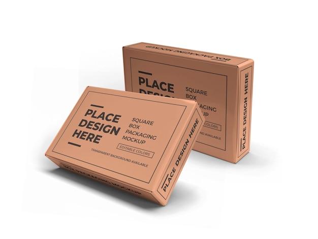 직사각형 상자 포장 모형