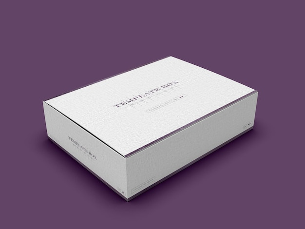 Мокап прямоугольной картонной коробки