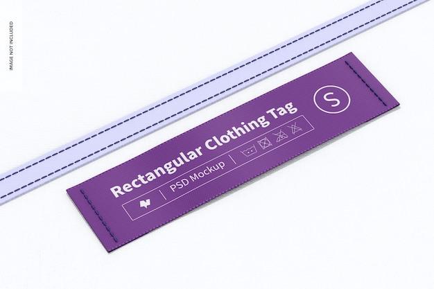 Mockup di etichetta rettangolare per abbigliamento 02