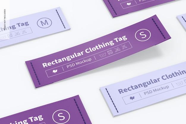 Set di etichette per abbigliamento rettangolari mockup