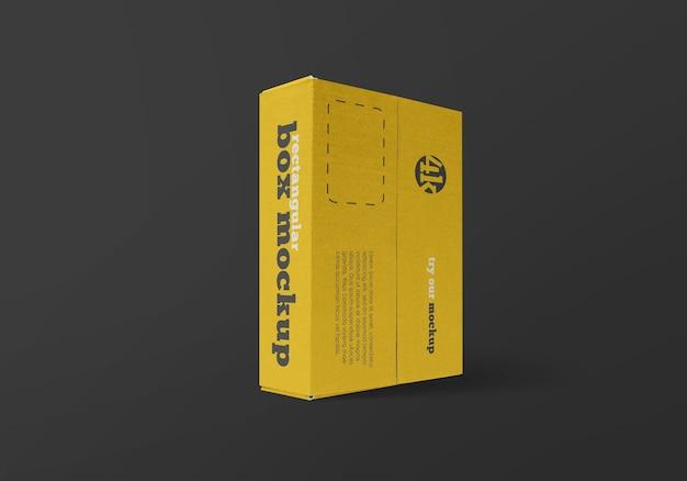 分離された長方形の配達箱のモックアップ