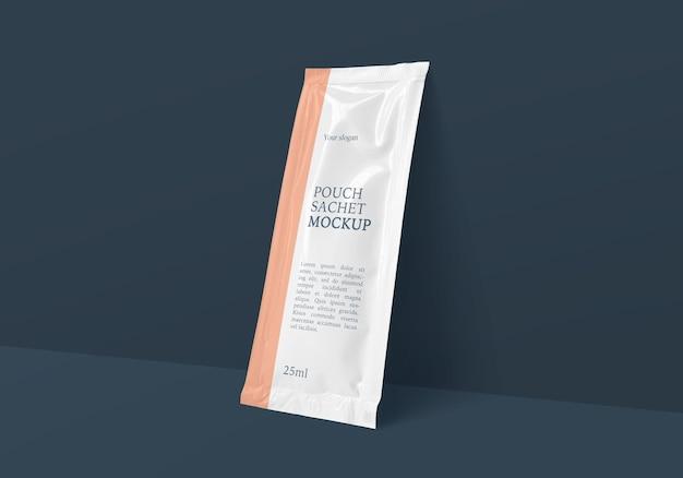 Прямоугольный пакет из фольги саше, макет Premium Psd