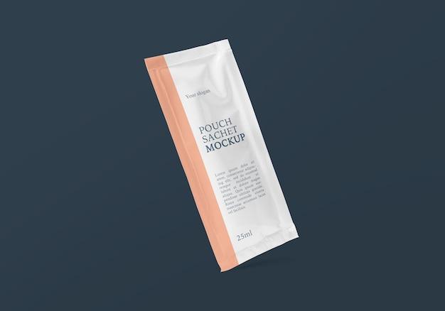 Прямоугольный пакет из фольги саше, макет