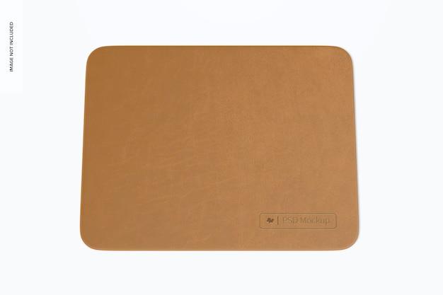 Прямоугольный кожаный коврик для мыши, мокап