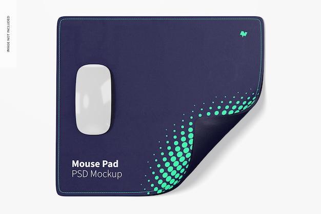 Мокап прямоугольного коврика для мыши
