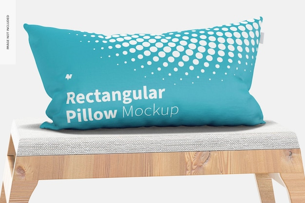Мокап прямоугольной подушки, вид спереди