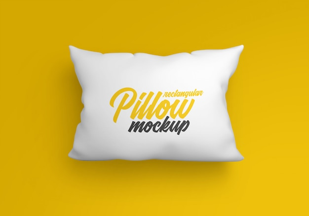 Rectangular pillow mockup