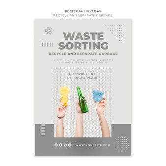 Recycle concept flyer template design