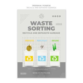 Recycle concept poster template design