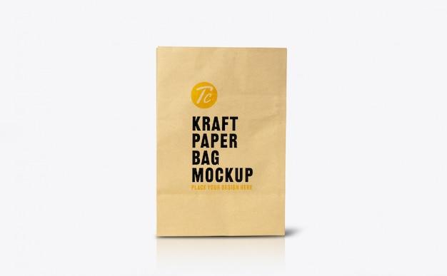 Шаблон макета из переработанного коричневого бумажного пакета для вашего дизайна