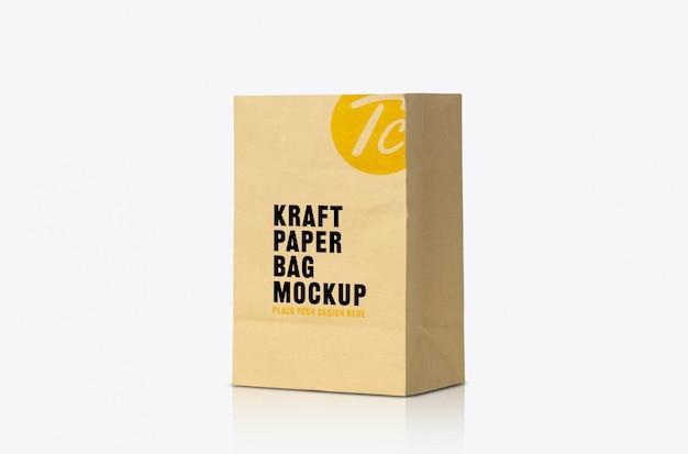 Recycled brown paper bag mockup