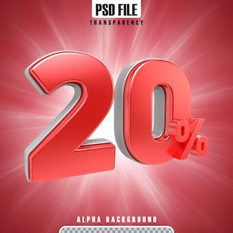Красный 3d процентов 20 процентов