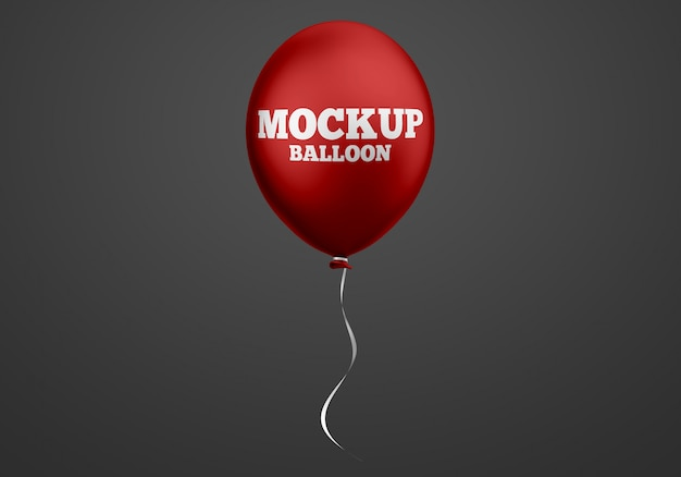 Red balloon mockup
