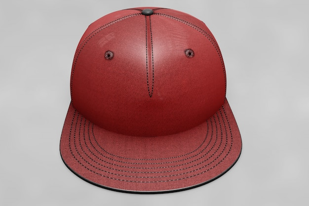 Red baseball cap mockup