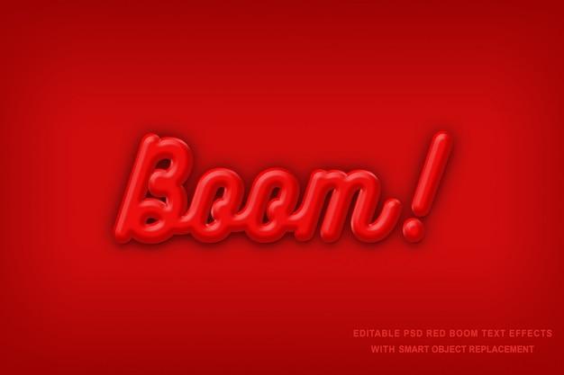 Текстовый эффект red boom