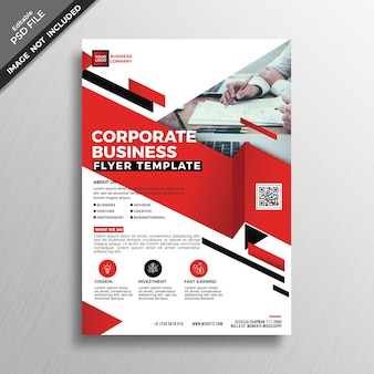 Red business brochure cover mockup
