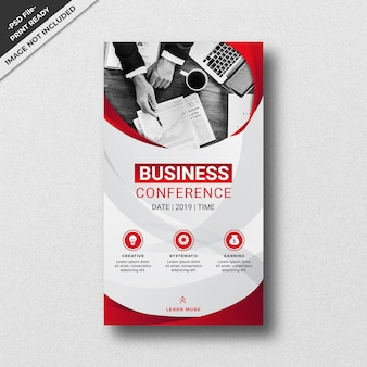 Red business style instagram story template design