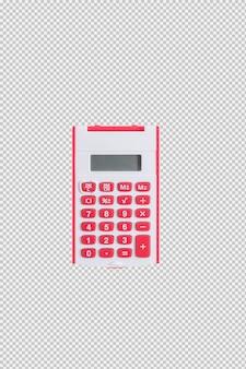 흰색 배경에 고립 된 빨간 계산기