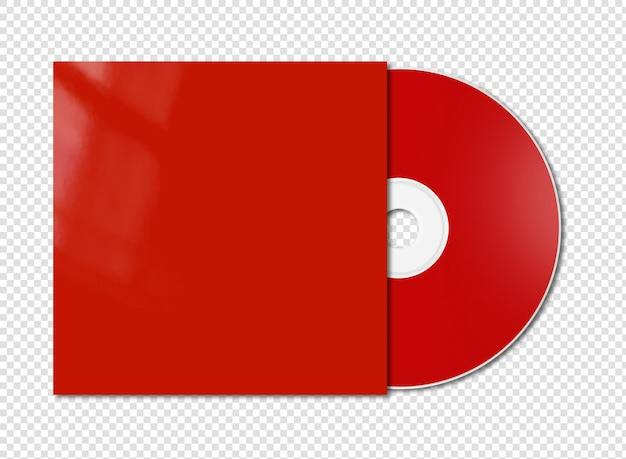 Red cd - dvd mockup isolated