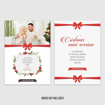 Red christmas mini session template
