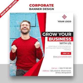 Red corporate banner