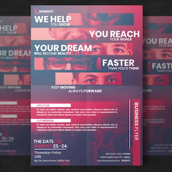 Red corporate flyer template