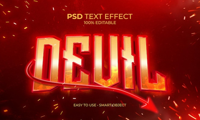 Red devil text effect