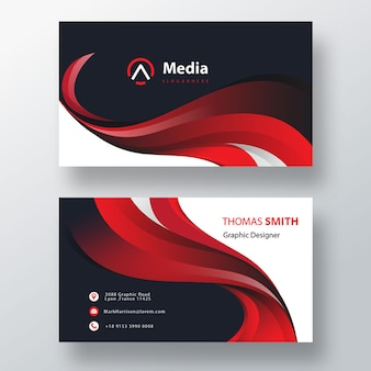 Red elegant business card
