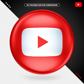 Red ellipse 3d youtube play