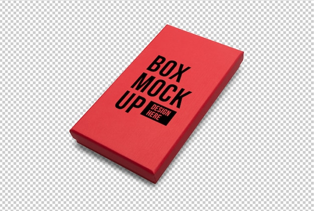 Red gift box mockup template