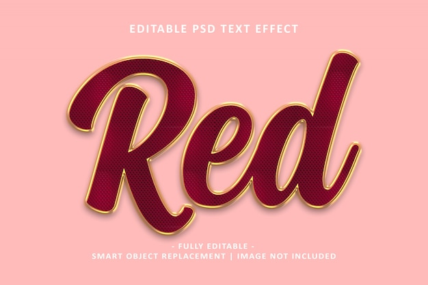 Red gold text effect