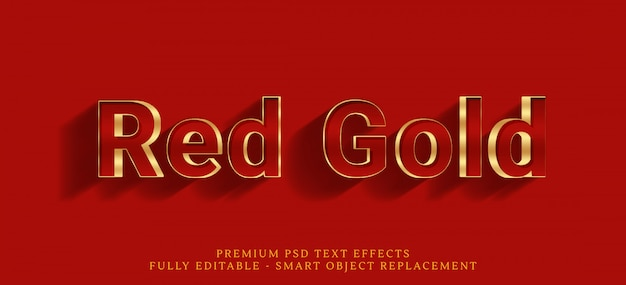 Red gold text style effect